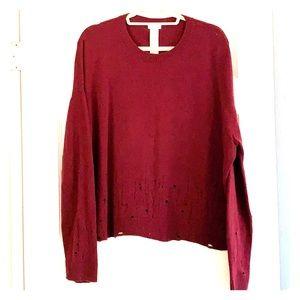 Maroon wool sweater by ReSet
